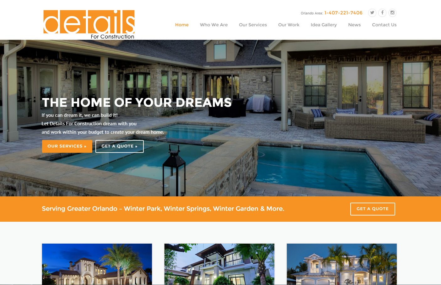 orlando real estate web design local element media